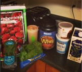 Strawberry Chocolate Mint Protein Shake