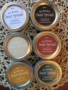 All the flavors included in the Sweet Spreads Sample Pack