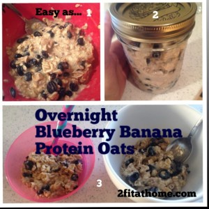 Overnight Blueberry Banana Protein Oats