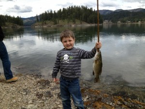 "My little man was so proud of his ""big mouth small mouth bass"" (as he calls it)"