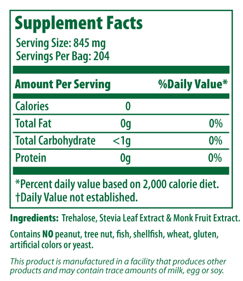 Treleafia Nutritional Information