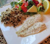 Baked Flounder with Brown Rice