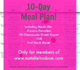 10-Day Meal Plan!