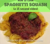 How to Cook Spaghetti Squash (a 15-second video)
