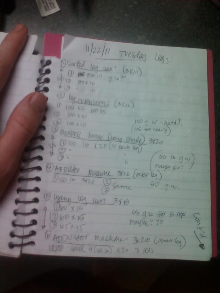 workout log journal