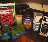 Strawberry Chocolate Mint Protein Shake