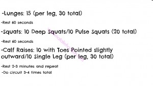 Outdoor Leg Workout