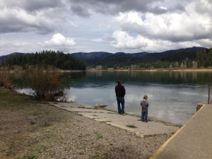 My heart just melts when I see these pictures of my husband teaching my son how to fish.