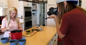 Filming in the MRM kitchen