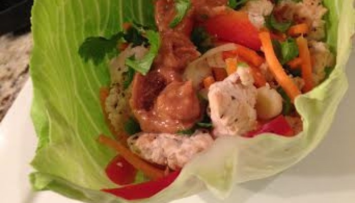 Thai Peanut Turkey Lettuce Wraps 2
