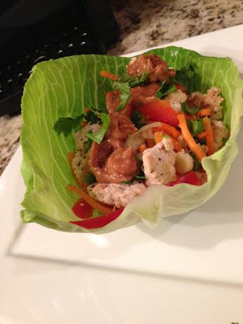 Thai Peanut Turkey Lettuce Wraps