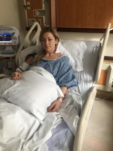 Photograph taken after the surgery.