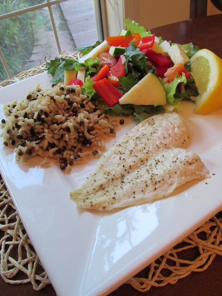 Flounder Brown Rice