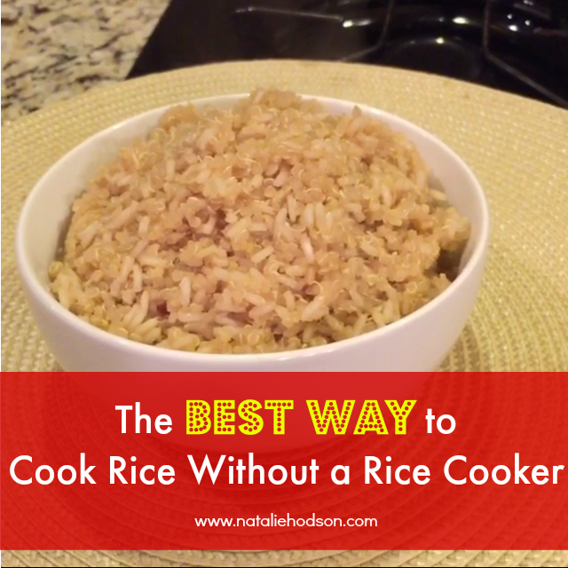 Natalie hodson the best and easiest way to cook rice without a rice ccuart Images